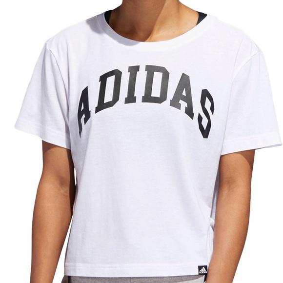 a642ac0eb4a24 adidas Tops | Womens Essentials Varsity Tshirt New | Poshmark